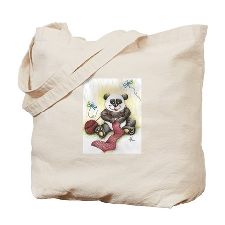 Tote Bag Knit Panda