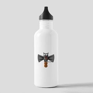 CUTE VAMPIRE BAT WITH VIOLIN Stainless Water Bottl