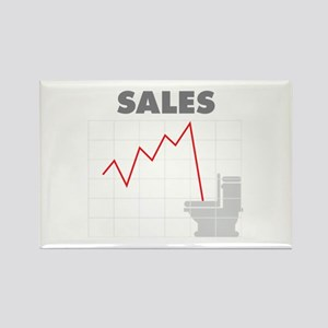 Sales in the Toilet Rectangle Magnet