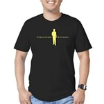 Christopher Hitchens Black Men's Fitted T-Shirt (d