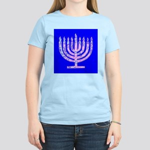 Hanukkah Menorah Blue 47 Women's Light T-Shirt