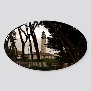 Pigeon Point Fence Sticker (Oval)