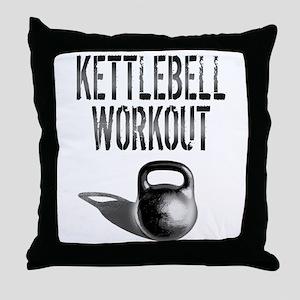 Kettlebell Workout Throw Pillow
