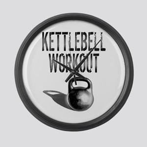 Kettlebell Workout Large Wall Clock