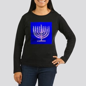 Hanukkah Menorah Women's Long Sleeve Dark T-Shirt