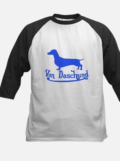 Von Daschund Blue Kids Baseball Jersey