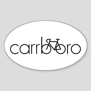 Bike Carrboro Sticker (Oval)