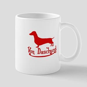 Von Daschund Red Mug