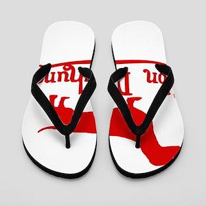 Von Daschund Red Flip Flops