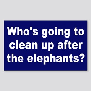 cleanup elephants... Rectangle Sticker