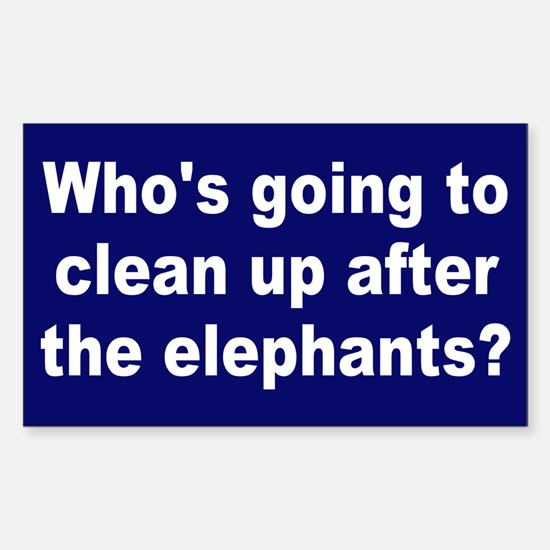 cleanup elephants... Rectangle Decal