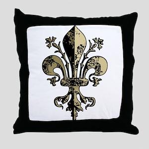 NOLA Antique Fleur Throw Pillow