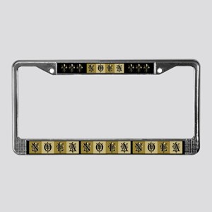 NOLA Antique Fleur License Plate Frame