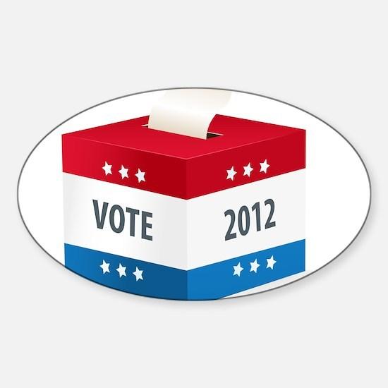Vote 2012 Sticker (Oval)