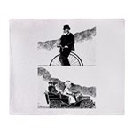 Pen and Ink by Alice Flynn Throw Blanket