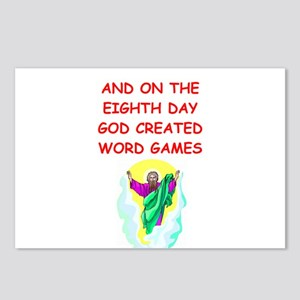 word games Postcards (Package of 8)