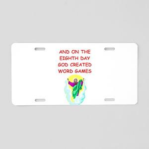 word games Aluminum License Plate