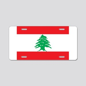 Flag of Lebanon Aluminum License Plate