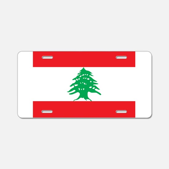 Flag of Lebanon Aluminum License Plate