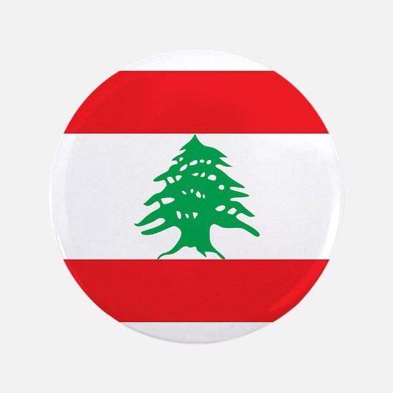 """Flag of Lebanon 3.5"""" Button"""