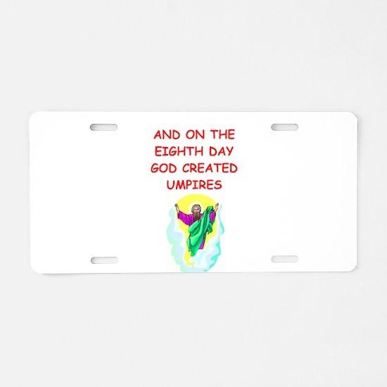 umpires Aluminum License Plate
