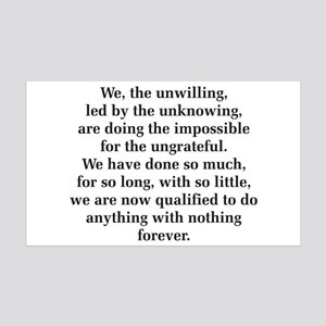 We The Unwilling 38.5 x 24.5 Wall Peel