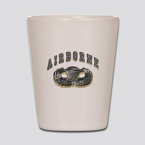 US Army Airborne Wings Silver Shot Glass