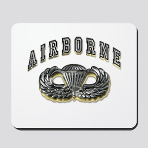 US Army Airborne Wings Silver Mousepad