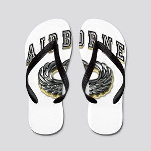 a6cd9ca9bd53 US Army Airborne Wings Silver Flip Flops