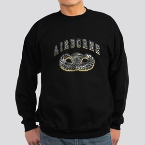 US Army Airborne Wings Silver Sweatshirt (dark)
