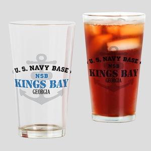 US Navy Kings Bay Base Drinking Glass
