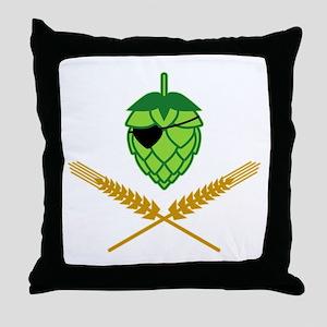 Pirate Hop Throw Pillow