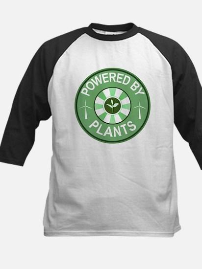 Powered By Plants Badge Kids Baseball Jersey