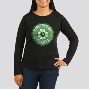 Powered By Plants Badge Women's Long Sleeve Dark T