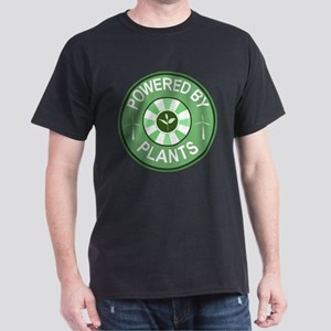 Powered By Plants Badge Dark T-Shirt
