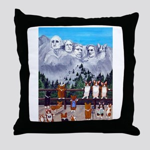 Mt. Corgimore Throw Pillow