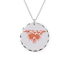 Orange Pine Cones Necklace