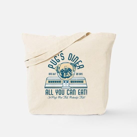 Pug's Diner Tote Bag
