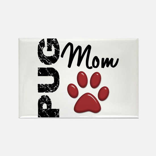 Pug Mom 2 Rectangle Magnet