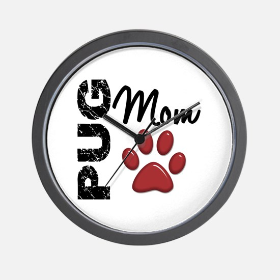 Pug Mom 2 Wall Clock