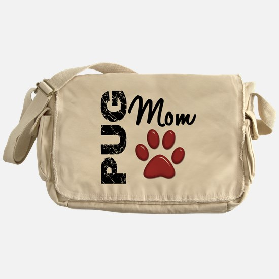 Pug Mom 2 Messenger Bag