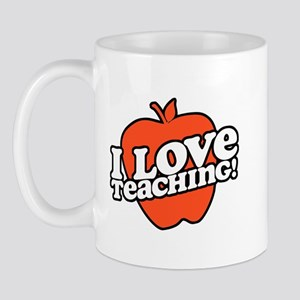 Retro I Love Teaching Mug