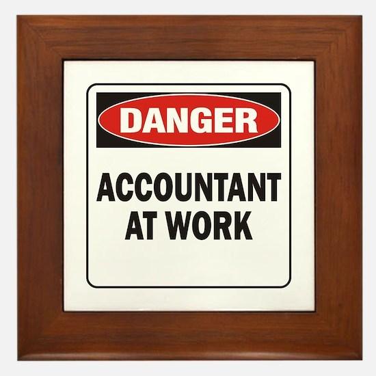 Accountant Framed Tile