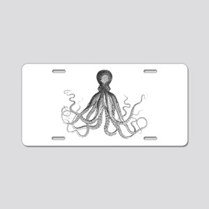 Octopus Aluminum License Plate