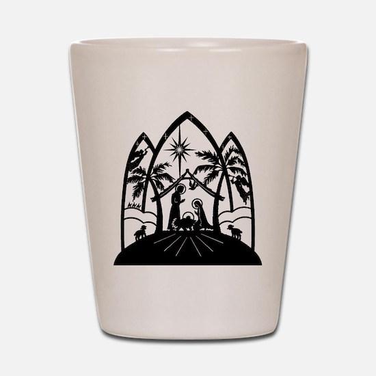 Nativity Shot Glass