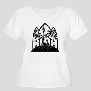 Nativity Women's Plus Size Scoop Neck T-Shirt