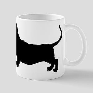 Basset Hound Silhouette Mug