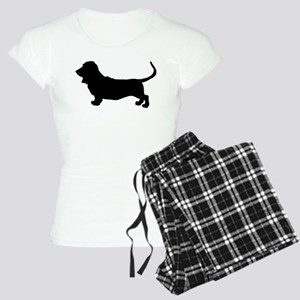 Basset Hound Silhouette Women's Light Pajamas