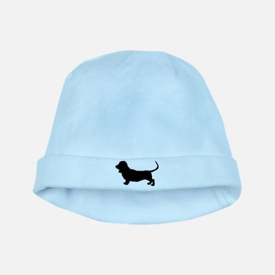 Basset Hound Silhouette baby hat