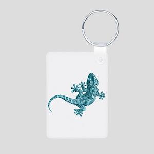 Gecko Aluminum Photo Keychain